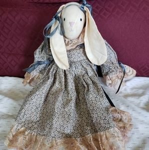 Vintage Bunny Tea Dyed/Stained